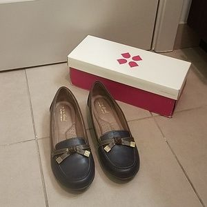 Naturalizer Gracee Blue Leather Loafers